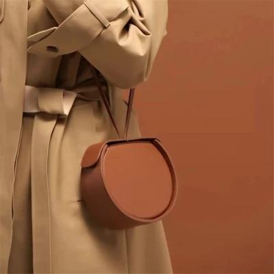 Circular Design Women Shoulder Bag Leather Women\'S Crossbody Messenger Bags Ladies Purse Female Round Bolsa Handbag