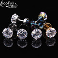 20PCS Street Style 3-7mm Round Stud Earrings Plugs Double Sided for woman and men  Stainless Steel Earring Gem Steel Tragus Lip