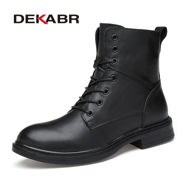 DEKABR Handmade Men Boots New Warm Fur Plus Size  Snow Boots