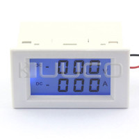 5 PCS LOT 2in1 Volt Amp Dual Display Meter DC 0 199 9V 100A LCD Voltmeter