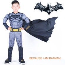Children Cosplay plays Batman Hero Series Fantasy Costume Comic Movie Carnival Party Purim Halloween