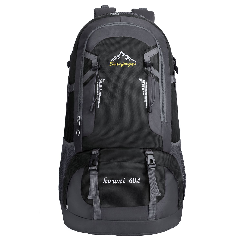 Impermeabile Alpinismo Il Per Trekking Sportiva Viaggio Borsa Zaino Arrampicata Campeggio nero 60l Esterna Hq4wxzZ45