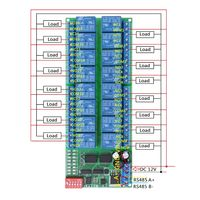 DC 12V RS485 Relay Module Remote Controller for PLC PTZ Camera Motors 16 Channel