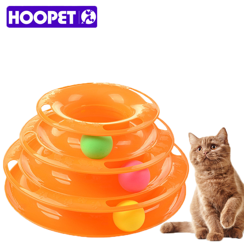 Interactive Cat Toy Balls Toy ABS Plastic Plate Plate Disc Educational Toy Amusement Triple Orbits Tunnel Cat Toy