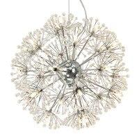 Одуванчик цветок светодиодный подвесной светильник K9 с украшением в виде кристаллов бубоном, подвесное освещение для столовой Бар Кухня по