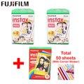 fujifilm 40 sheets White Edge 3 inch wide and 10pcs Rainbow paper instax mini 8 film for Instant mini 7s 9 25 50s 90 camera