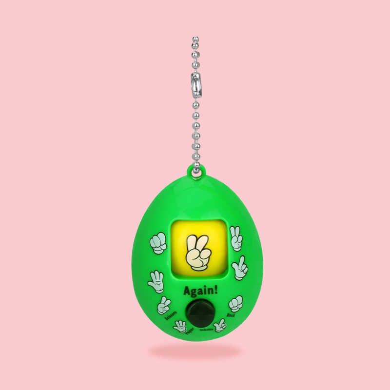 Fantezi bebekler yuvarlak yumurta anahtarlık aile oyunları anahtarlık kaya kağıt makas oyun oyuncak Mora oyunları anahtarlık araba çanta kolye yetişkin için