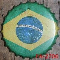 35 CM Antieke Stijl Metalen Bierfles Caps Vintage Tin Tekenen AD Teken Decoratieve ART Bar Koffie Huis Poster
