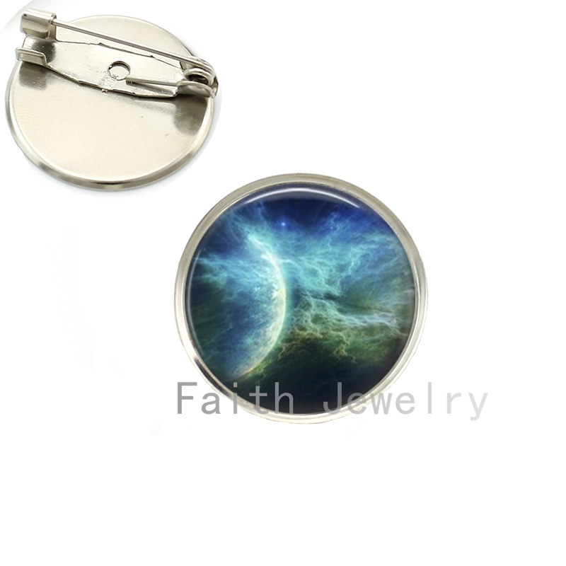 Pin Planets Nebula Sunrise Eclipse Alaxy Brooch Solar System Cosmos Art Pture Brooches Hand Crafted Jewelry Wholesale Ns093