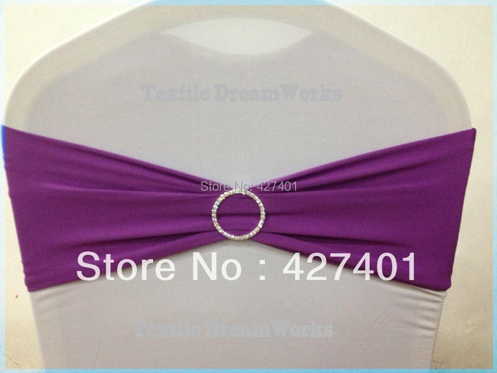 Распродажа, темный фиолетовый лайкра лента/повязка из спандекса с круглым горный хрусталь броши для украшения свадьбы