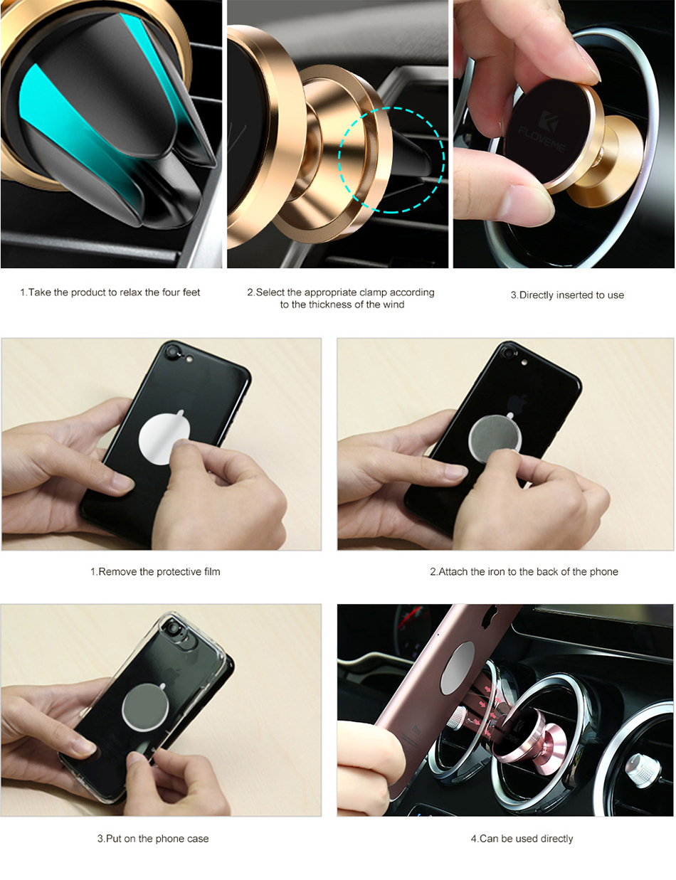 Nfloveme Universal Magnetic Phone Car Holder For Iphone X 10 7 8 6 6r All Model Years Gt 20032004 Zx6r Anyone Wired In Remote Start Floveme Plus Air Vent Mount Stand Gps Bracket Support