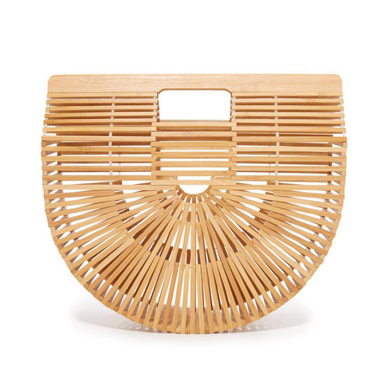 Women Handbag Female Big Travel Vacation Totes Bamboo Handbag For Ladies Handmade Woven Straw Beach Bag Summer Women's Purse women s handbags female travel vacation round tote bamboo handbag for ladies handmade woven straw beach bag summer women s purse