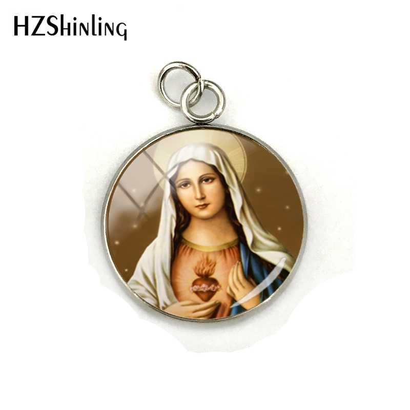 2019 ใหม่ Vintage Virgin Mary เครื่องประดับจี้ Our Lady of Guadalupe เครื่องประดับแก้วโดมสแตนเลส Charms สำหรับของขวัญ