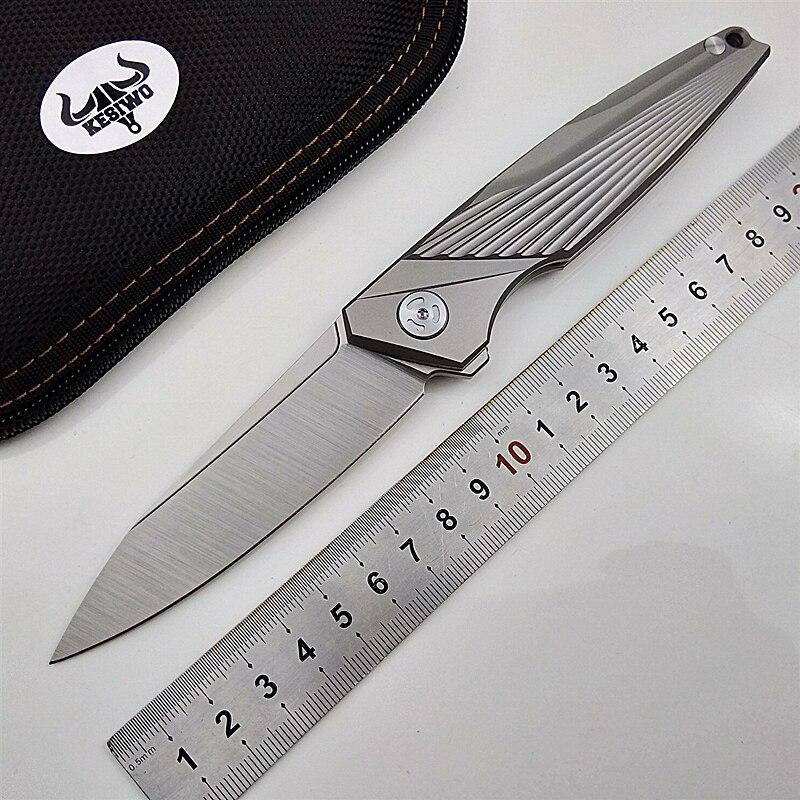 Couteau à lame pliante feiying D2 poignée en titane couteaux de camping tactiques de poche chasse flipper cadeau de survie couteau portable EDC
