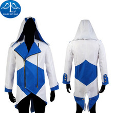 MANLUYUNXIAO Men's Three Colors Anime Assassins Creed Costume Conner Kenway Hoodie Jacket Halloween Cosplay Costume For Men