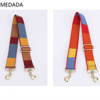 MEDADA Adjustable Ethnic Wind Wide Shoulder Belt Single Shoulder Oblique Span Dual Purpose Parts New Type 2019 Womens MD54