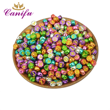 Canifu  Random Mixed Gold and Sliver  Russian Letters Alphabet  Acrylic  Round Beads For Jewelry Making DIY Bracelet 300pcs/lot