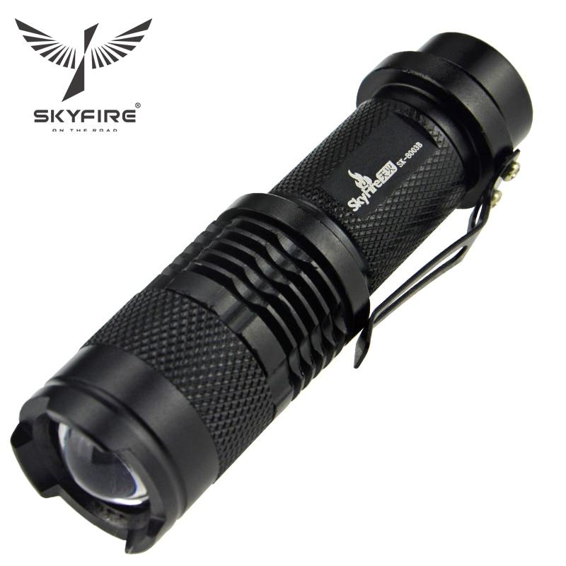 SKYFIRE Mini kaasaskantav võimas veekindel LED taskulamp Lanterna tugi 14500 Laetav aku AA Penlight Torch Easy Carry