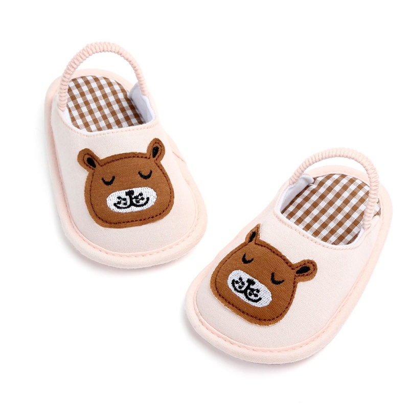Cartoon Indoor Baby Slippers Spring Baby Girls Cotton Shoes Cute Girls Slippers Boy Shoes 0-12M Indoor Slippers For Newborn
