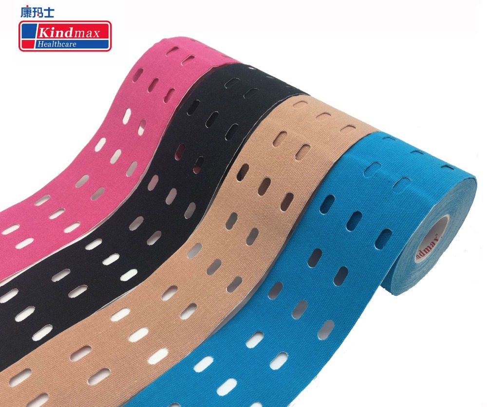 Kindmax Hole Kinesiology Tape Medical Elastic Sport  Athletic Tape for Muscle Support Strain Injury Pain Relief, 5cm x 5m Roll Elbow & Knee Pads    - AliExpress