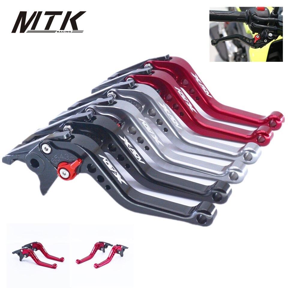 MTKRACING short Clutch Brake Levers Adjustable CNC Aluminum For HONDA X ADV  XADV 2017 motocycle accessories for honda cb600f cb900f cbf600 short brake clutch levers black