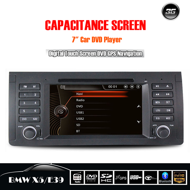 Morovan Car Music Car DVD Radio for BMW E39/X5 Serie Car multimedia System with Wince MTK HD Capacitive Touch Screen Car Navigat