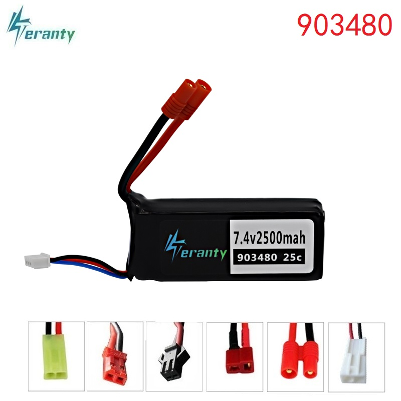 7.4v 2500mAh 25c Lipo Battery For Syma X8C X8W X8G X8 RC Quadcopter Parts 7.4 V 903480 Toys Battery With Over Current Protection(China)