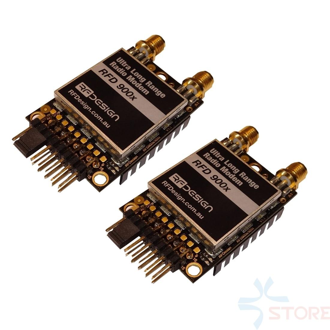 Over 40km RFD900X PLUS 915MHz Ultra Long Range Telemetry Radio Modem with Diversity FTDI & Antenna for APM PIX Flight Controller
