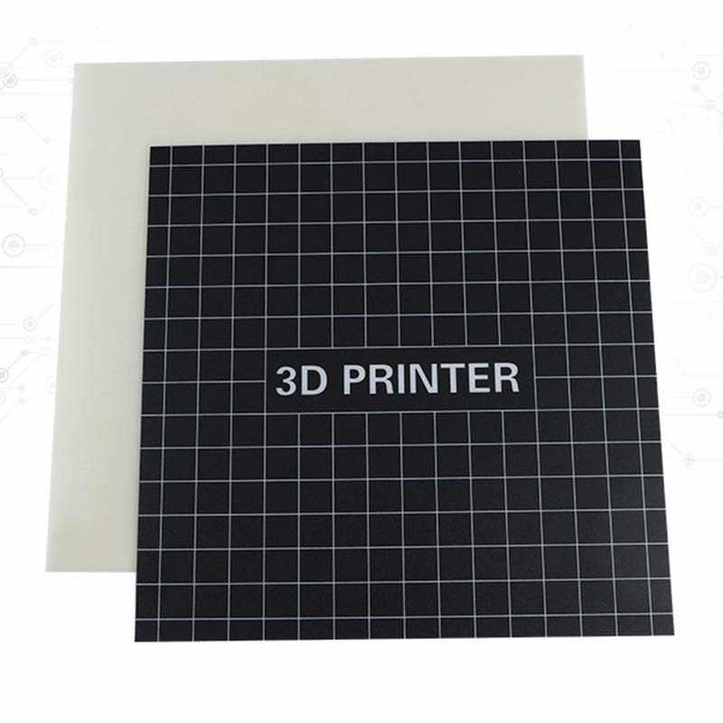 3D Ender-3 3D Heatbed เครื่องพิมพ์ Wingspan ที่ถอดออกได้ Glass Fiber Board เพิ่มเนอสเซอรี่สติกเกอร์สร้างแผ่นสำหรับ Ender-3 ขนาด 235 มม.