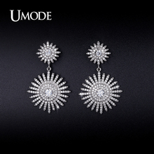 UMODE Crystal Dangle Earrings For Women 2017 New Fashion Jewelry CZ Aros Boucle D Oreille Femme