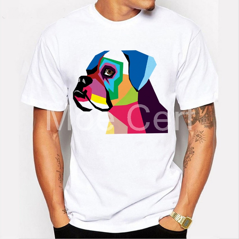Detail Feedback Questions About The Boxer Dog T Shirt New Geometric