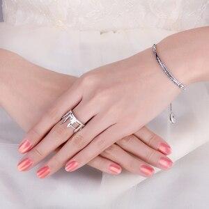 Image 4 - JewelryPalace Twin Towers Ringe 925 Sterling Silber Ringe für Frauen Öffnen Stapelbar Ring Band Silber 925 Schmuck Edlen Schmuck