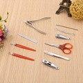 10 Pcs Kit de Unhas Nail Care Pedicure Tesoura Pinça Faca Ear Pegar Jogo de Manicure