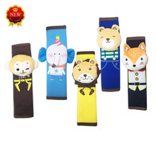Children's Cute Cartoon Plush Decorative Seat Belt Shoulder Pads Seat Belt Protecting Cover Safety Belt For Car Auto Accessories(China)