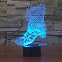 Kids Lamps Boots Night Lights Lamparas Led De Escritorio