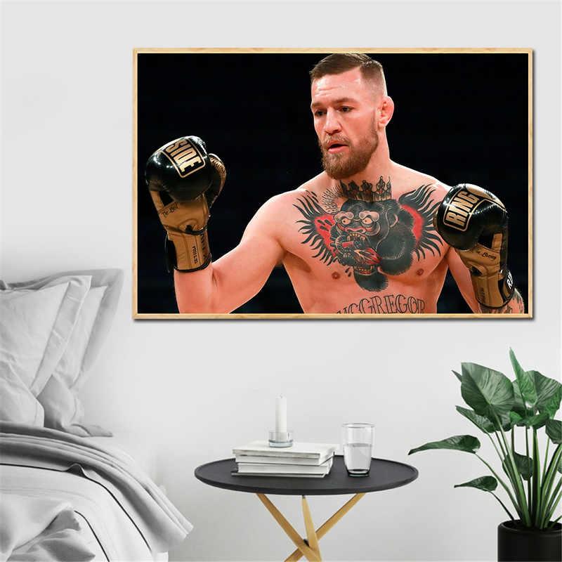 Conor McGregor Poster Khabib Pittura Moderna Della Decorazione di Arte Stampa Complementi Arredo Casa Gioco di Boxe Sport della Tela di canapa Immagini