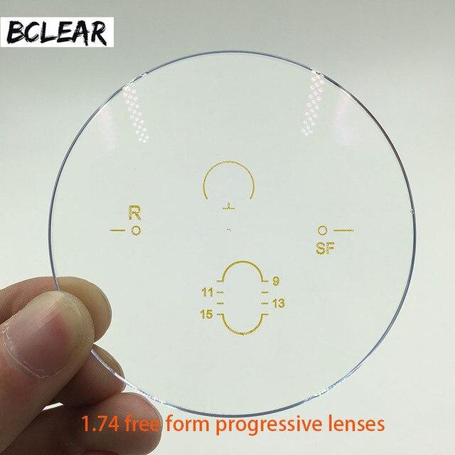 BCLEAR lunettes à indice élevé ASP, 1.74, Anti Radiation, verres progressifs, multifocale gratuite, degré personnalisé