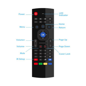 Image 5 - 2.4GHz Wireless Remote Control Fly Air Mouse Wireless Qwerty Keyboard for Smart TV Android TV box KODI XBMC MXQ MX3 M8S+T8 QBox