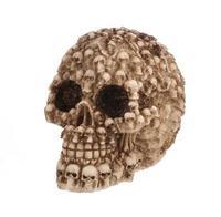 Multi head skull resin craftwork, horror skull ornament bar, personalized Halloween Gift