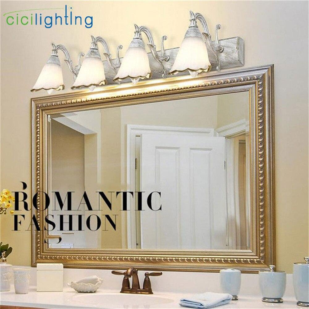 US $19.99 |L16/30/46/64 cm Neue Vintage E14 Wand Lampe Badezimmer  Beleuchtung Spiegel Licht Make Up Eitelkeit schrank creme indoor  wandleuchter-in ...