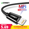 Ugreen MFi USB Cable for iPhone Xs Max 7 Plus 2.4A Fast Charging Lightning Cable for iPhone 6 USB Data Cable Phone Charger Cable