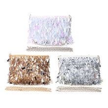 2019 New Fashion Women Sequins Clutch Evening Bags Beaded Shining Wedding Cocktail Party Purse