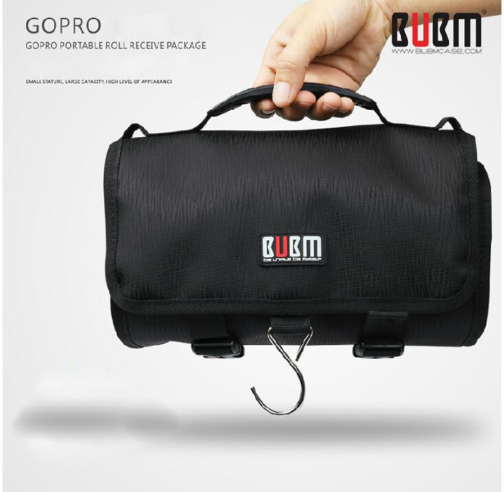 Bubm For Go Pro Accessories Large Canvas Travel Roll Shoulder Bag Protective Case Rollup Gopro5 Hero4 3 Sj4000 Xiaomi In Camera Video Bags From