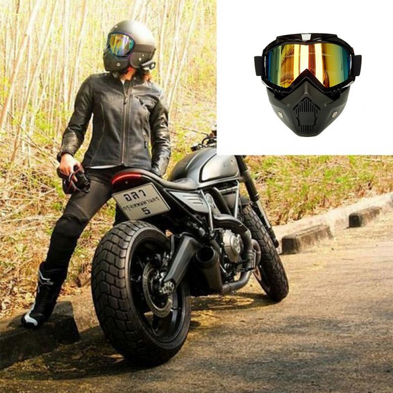 5f09c1a8bfb7 Universal Motorcycle Face Mask Goggles Motocross Motorbike Motor ...