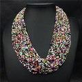 Multi-Capa de Cuentas de Colores Grande Gargantilla Collar Joyería Del Partido 2016 de La Nueva Manera Para Las Mujeres Bohemia Africa Boda Bijoux Collar