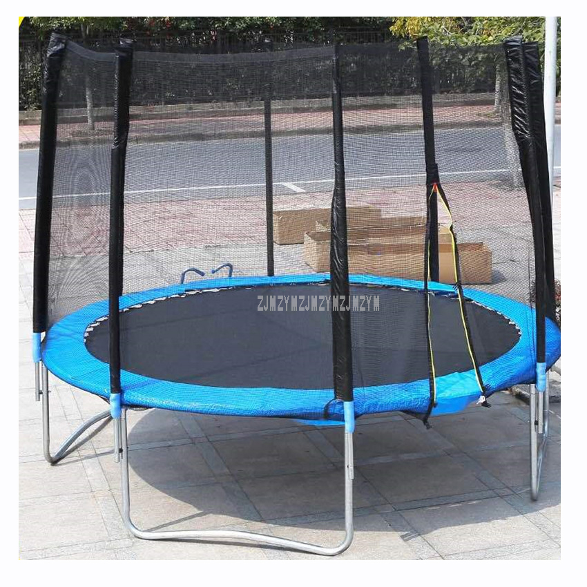 10 Feet High Quality Practical Trampoline With Safe Protective Net Jump Safe Bundle Spring Safety With Ladder Load Weight 400kg 16 feet high quality practical trampoline with safe protective net jump safe bundle spring safety with ladder load weight 700kg