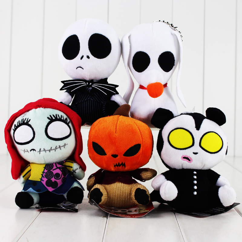 5Style Nightmare Before Christmas Jack Skellington Sally Lock keychain keyring pendant Plush Doll Toy womens printed halloween leggings the nightmare before christmas cosplay leggin jack and sally slim design workout girls pants
