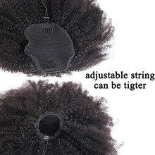 Afro perwersyjne kręcone kucyk Remy kawałki włosów dla kobiet naturalna czarna klapka w kucyki sznurek 100% ludzkich włosów produkty Dolago