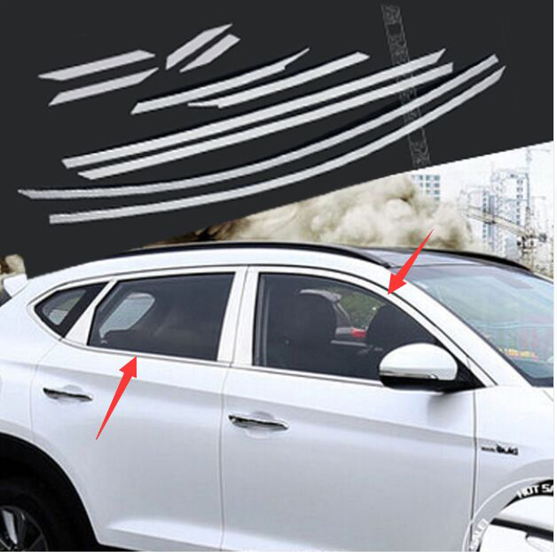 Hyundai Tucson Exterior Door Trim: 2016 2017 FIT FOR HYUNDAI TUCSON UPPER WINDOW SILL CHROME
