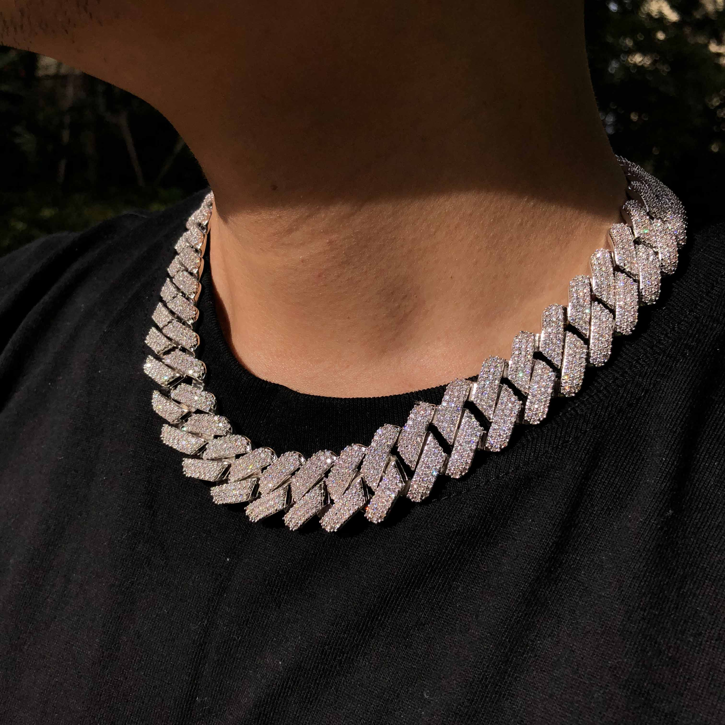 Iced out bling bling cuban link chain wholesale hiphop jewelry